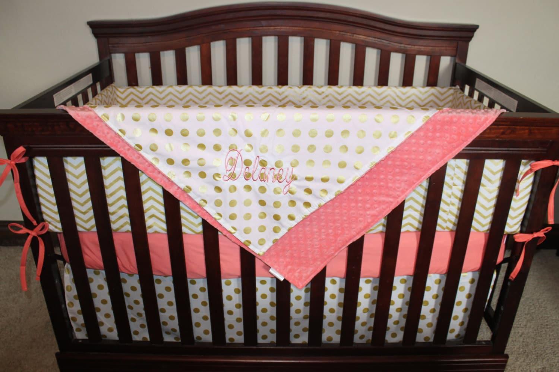 Baby girl crib bedding glitz white gold chevron white gold for White and gold nursery