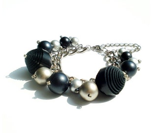 Chunky Bracelet With Genuine Leather Ball