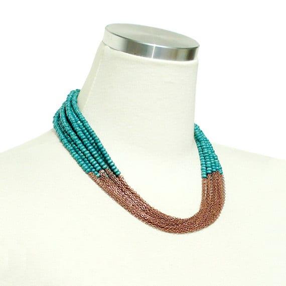 Boho Chic Necklace - Turquoise