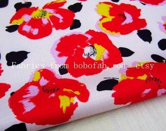 "3266A  - 1 yard Vinyl Waterproof Fabric - Flowers - 57""x36"""