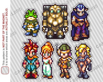 16bit Chrono Trigger - Car/Refrigerator Magnets