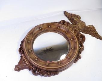 Syroco Federal Eagle Convex Mirror Mid Century American