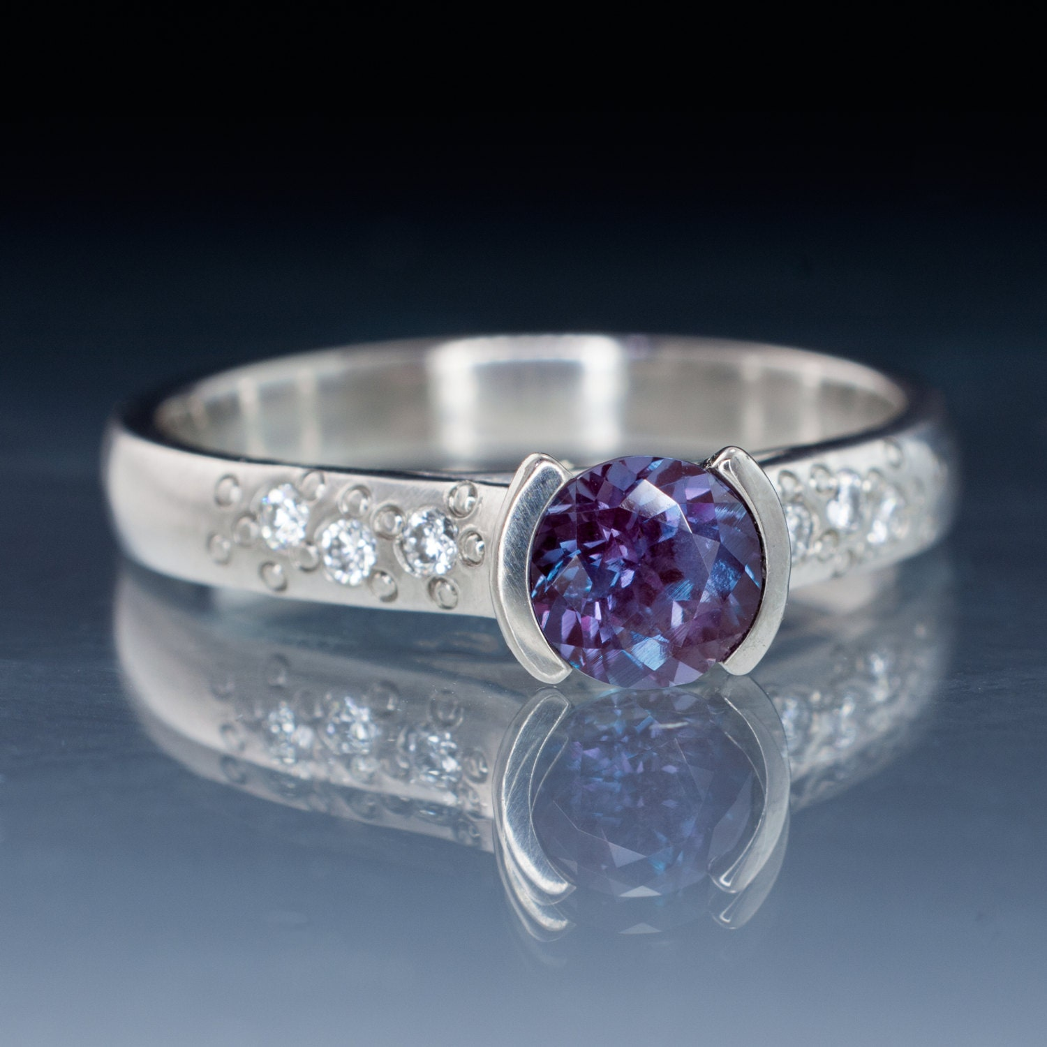Chatham Alexandrite Engagement Ring Ethical By