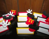 MIckey Mouse Food tent/ place cards Mickey Mouse Clubhouse Party Minnie Mouse