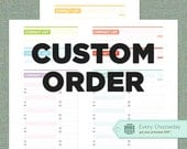 CUSTOM ORDER: Phone & Address Book, Personalized Categories, 3 Colors Included - PDF Printable Forms (3 Docs)
