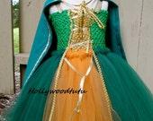Brave Merida inspired tutu dress with cape costume