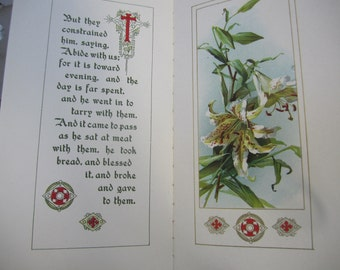 Victorian Illustrated Book Abide with Me by H F Lyte Henry Francis Lyte