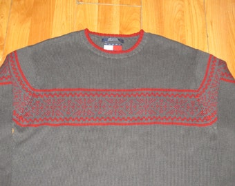 Vintage 1990s Tommy Hilfiger Hip Hop Fair Isle Winter Sweater