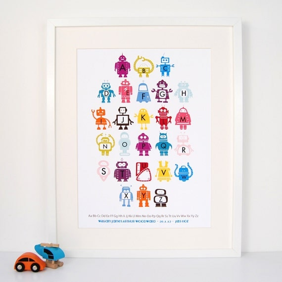 Personalised Children's Robot Print