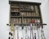 Natural Wooden Jewelry Organizer