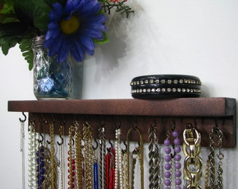 Necklace Organizer Copper and Black