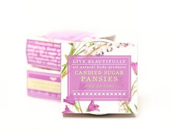 Candied Sugar Pansies Perfume -  All Natural - Sweet Botanicals, Oak Moss, Sugared Berry