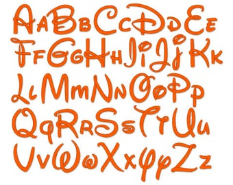 """4 Sizes 0.75"""", 1.25"""", 1.75"""", 2.25"""" -  Machine Embroidery Font 240 - Instant Download"""