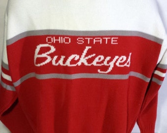 Ohio State Buckeyes Vintage Cliff Engle Sweater LRG