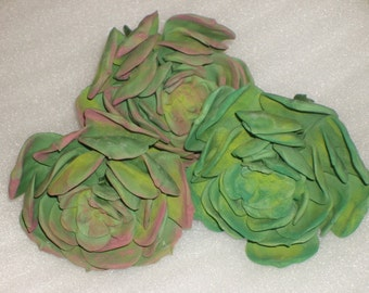 Gumpaste 3 1/4 inch Succulents for Wedding Cakes