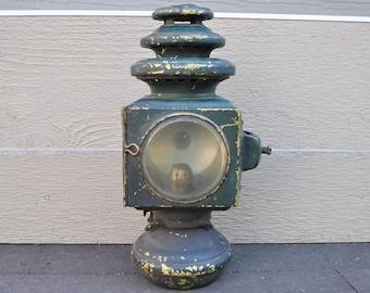 Vintage E&J Brass Carbide Auto Lamp 1908 Model T or Buick