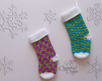 Blitzen Stocking Crochet Pattern