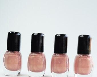 Nail Polish Geisha Pink gold glitter Vegan nails free from harsh chemicals indie nail polish