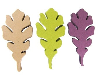 Oak Leaves Paper Cut Outs set of 25