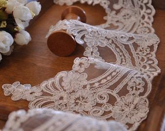 bridal veil lace trim in off white