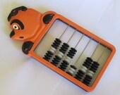 Rare Vintage  Abacus, 1960s, school abacus,  Cartoon Bear head abacus,  Home decor
