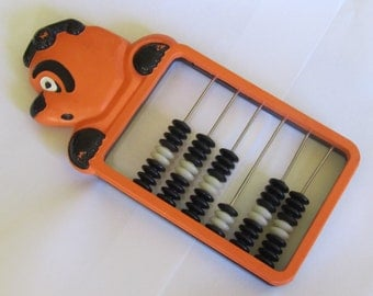 Rare Vintage  Abacus, 1960s, school abacus,  Cartoon Bear head abacus,  Home decor