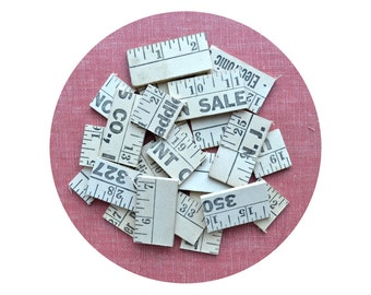 """yardstick pieces, ruler pieces, assemblage supply, jewelry supply, 72""""! from Elizabeth Rosen"""
