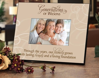 """Personalized Family Name Frame - """"Generations"""" - Add Your Family Name"""