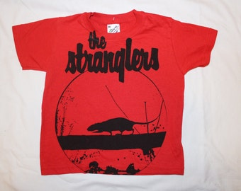 Kids The Stranglers t shirt - Childrens tee -  Rattus Norvegicu Screenprint - Punk - Music - Age 3-4 104cm Age 2-3 98cm
