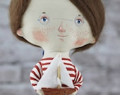 Beach Décor Handmade Doll Sailor Boy by SEASTYLE