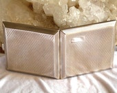 Antique 1925 sterling art deco signed cigarette case