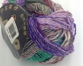 Stash Clearance Noro Aya Yarn 100 Grams: Purple, Green, Blue Variegated Colors