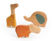 Wooden African animals Set  decorative wooden animal toys