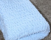 Cloud-soft hand-crocheted baby blanket in various colors