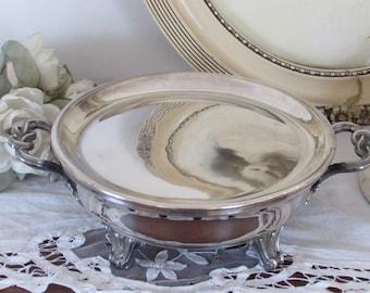 Antique French superb quality silver plate, plate warmer .C. Balaine Paris. 1829 - 1840