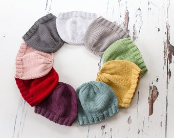 Newborn Essential Beanies - Newborn Photo Prop - Luxury Yarn, Hand Knit, Ready to Ship