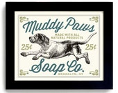 Laundry Room Decor Dog Art Sign Bathroom Wall Art Mud Room Washing Machine French County Home Soap