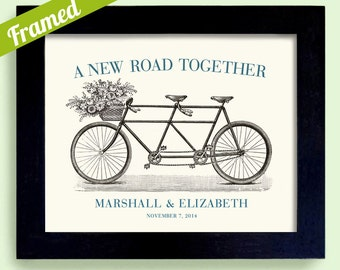 Unique Engagement Gift Framed Wedding Decor Gift for Couples Bicycle for Two Bridal Shower