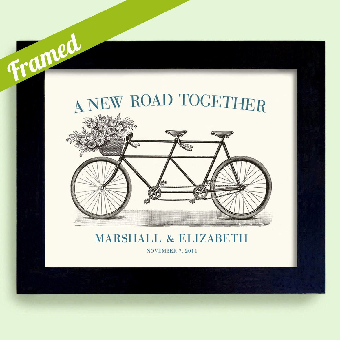 Unique Wedding Gifts For Couples: Personalized Wedding Gift For The Couple Bicycle For Two