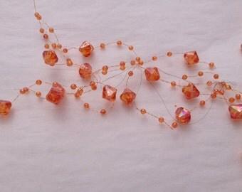 Beaded Garland Iridescent Orange 1181