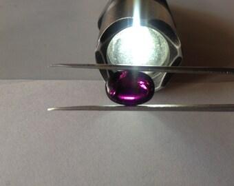 Rare Rhodolite Purple garnet oval cabochon weight 10.56 carats Rhodolite garnet oval  Purple Garnet rare