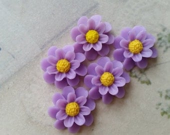 18 mm Lavender Colour Resin Marigold Flower (.au)
