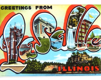 Greetings from LaSalle Illinois Fridge Magnet
