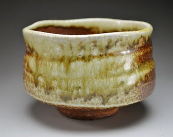 Shigaraki, anagama, ten-day anagama wood firing, with natural ash deposits tea bowl. chawan-73