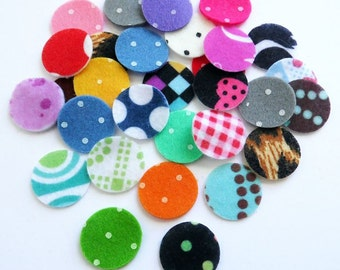 Felt circles shapes, 19mm, felt shapes, felt die cut