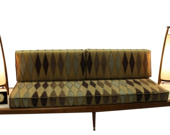 Mid Century Modern, danish, retro, Vintage upholstered 1950's Daybed, floating sofa, Adrian pearsall platform couch
