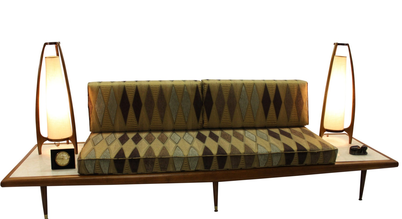 Mid Century Modern danish retro Vintage upholstered