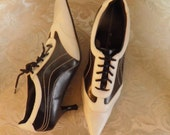 Black and White Jazzy Pointed Toe Shoes