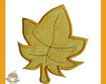 Autumn leaf Applique design