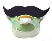 Black Mustache pacifier 0 to 6